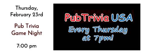 Pub Trivia USA Every Thursday Night at Manhattan's