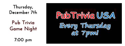 Pub Trivia USA Every Thursday Night at Manhattan's in Carol Stream