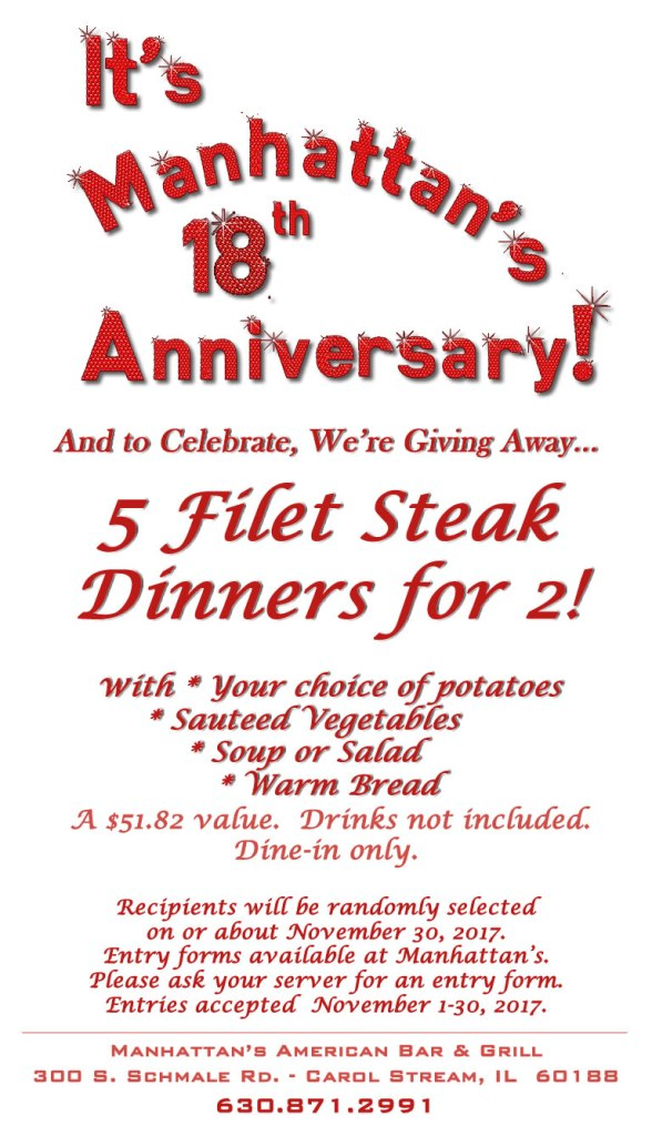 Celebrate Manhattan's 18th Anniversary!