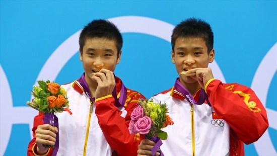 El podio de la parejas Olímpicas