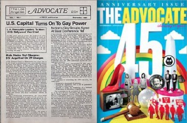 "La revista gay ""The Advocate"" cumple su 45º aniversario"