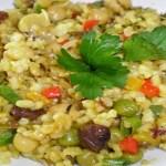 Risoto de legumes saudável