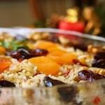 Arroz com lentilhas e frutas secas