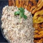 Paçoca de carne seca com banana da terra