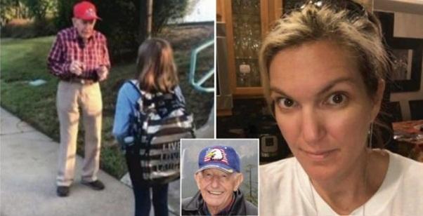 Mãe fica alarmada quando descobre que a filha fala sempre com um homem de 94 anos antes de ir para a escola