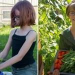 Menina cultiva horta em casa para alimentar os moradores de rua