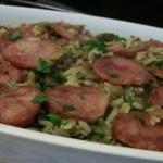 Receita prática de arroz com lentilha e linguiça