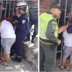 Mulher tenta espiar a casa dos vizinhos e fica presa nas grades durante 5 horas