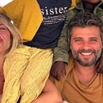 O casal, Giovanna Ewbank e Bruno Gagliasso, postou primeira foto do filho, Bless