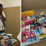 Alunos de colégio em Salvador, BA, doam alimentos para colega que estava sem comida em casa