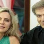 Atriz Bruna Lombardi relembra quando começou a namorar Carlos Alberto Ricelli