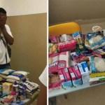Alunos de colégio, em Salvador, doam alimentos para colega que estava sem comida em casa