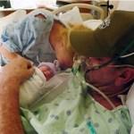 Mulher antecipou o parto para que o marido pudesse ver a sua filha antes de morrer