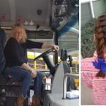 Menina perdeu a mãe e o pai não sabe fazer penteados. A motorista do ônibus escolar faz todos os dias lindos penteados nela