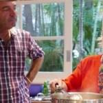 Ana Maria Braga posta foto do noivo observando-a cozinhar
