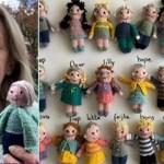 Esta professora tricotou bonecos inspirados nos seus alunos para matar as saudades durante isolamento social
