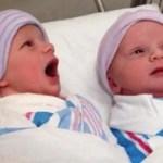 Recém-nascidas são filmadas em conversa logo após o parto
