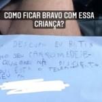 Menino escreve bilhete pedindo desculpas a dono de carro e viraliza na internet