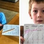 Menino de 7 anos foi humilhado pela professora pelo resultado da prova de matemática.