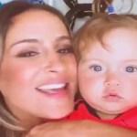 Cantora Claudia Leitte e a filha aparecem em rede social com vestidos parecidos e arrancam elogios dos fãs