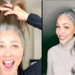 Ela responde àqueles que a criticam por ter o cabelo grisalho e deixar de pintá-los