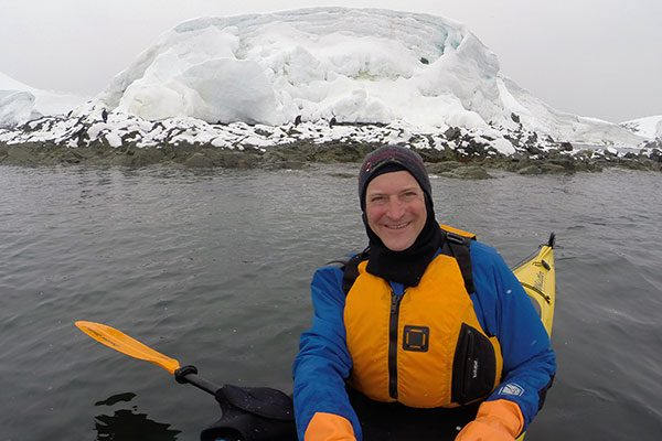 Nomad Dave Kayaking in the Antarctic