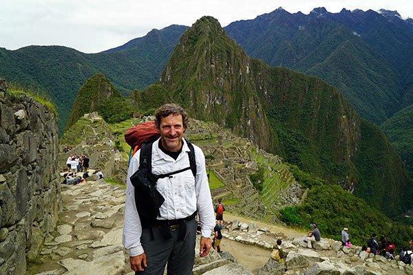 Nomad Dave in Machu Picchu, Peru