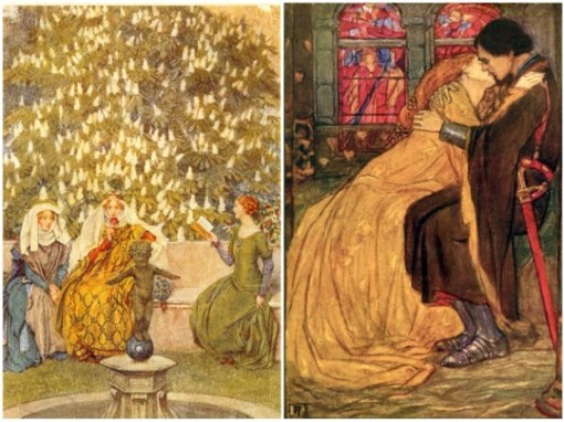 comparing Padmé in her picnic dress to paintings of Camelot