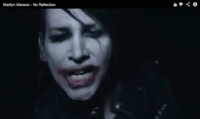 Marilyn Manson 新作より「No Reflection」PV