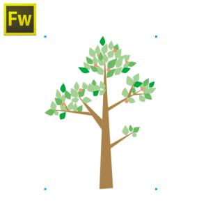 現状②Fireworks側の画面 この木のベクターをFlashにコピペしたい