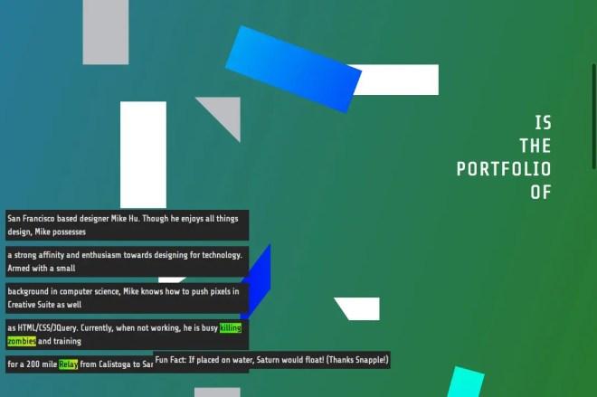 海外デザイナー hi_hu氏のポートフォリオサイト