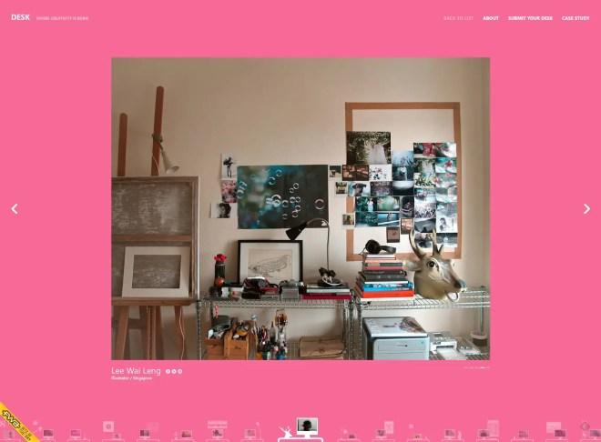 DESKより   シンガポールのイラストレーター Lee Wai Langさんのおしゃれなデスク周り