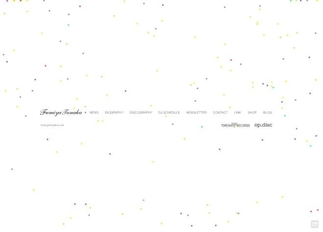 テクノ系ミュージシャンDJのサイト 11選   WEBサイトデザインまとめ