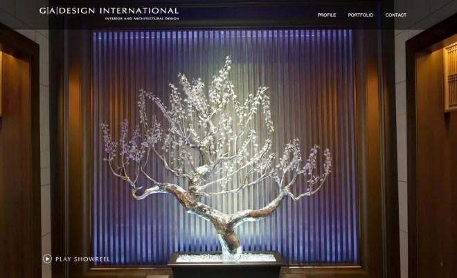 G A Design International グラマラスなデザインばかりの設計事務所 | 海外のイケてるサイトデザイン