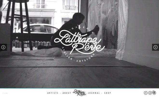 L attrape rêve   アトリエの公式サイト   イケてるサイトデザイン