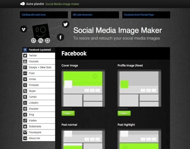 画像を簡単にソーシャルメディア用にできる超便利なサイトAP Social Media Image Maker