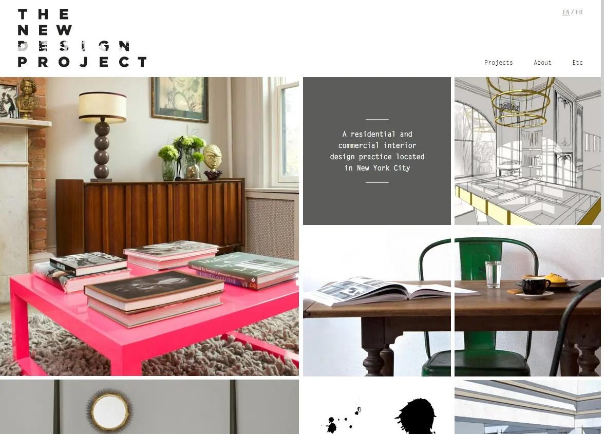 ニューヨークのインテリアデザインThe New Design Project   イケてるサイト