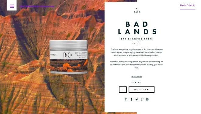 R Co   BADLANDS Dry Shampoo Paste