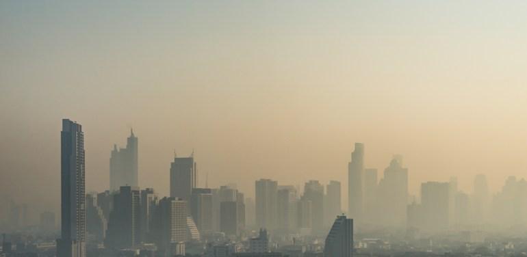 Asia, Bangkok, Smog
