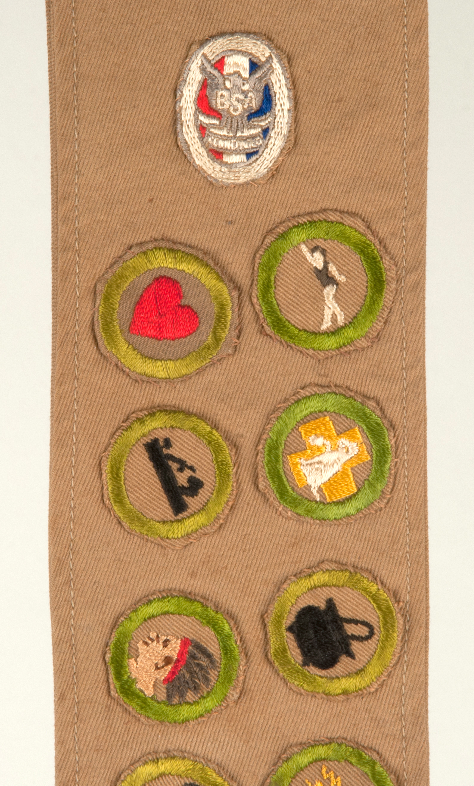 S Boy Scout Sash With Eagle And 25 Type A Merit Badges