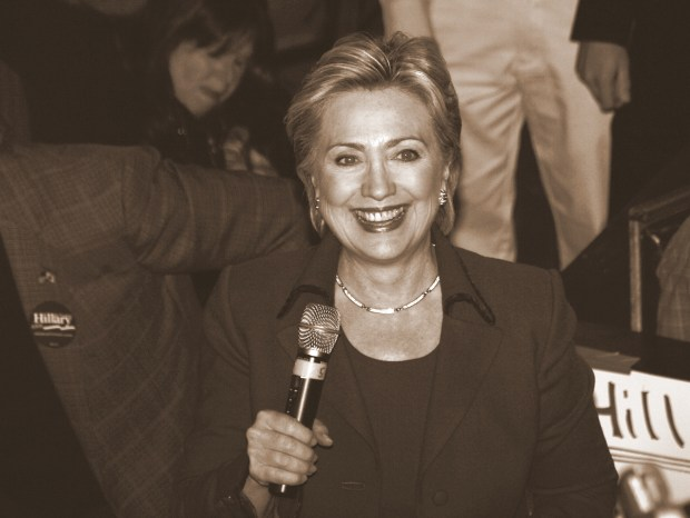 Demokratenes Hillary Clinton forsøker å bli demokratenes presidentkandidat. Foto: Alan C