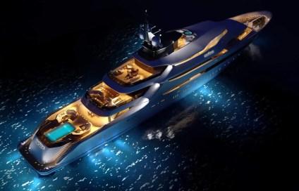 Yacht ALFA NERO night