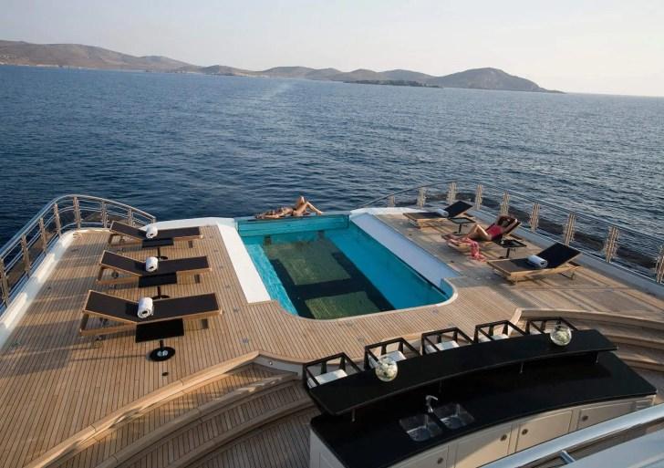 Yacht ALFA NERO pool