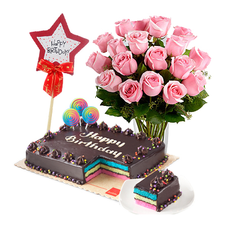 Send Buy 18 Rose Get 6 Roses Free W Birthday Cake To Manila Only