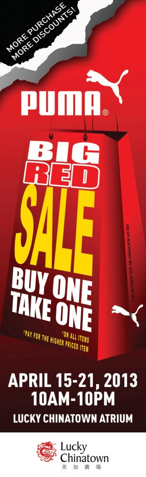 fb346351175e Puma Big Red Sale at Lucky Chinatown Mall  April 15 – 21