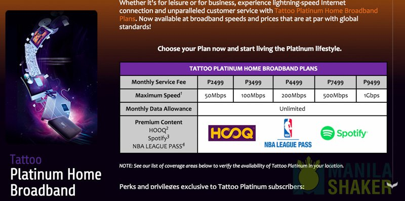 list of fiber internet plans, pricing, providers in the philippines