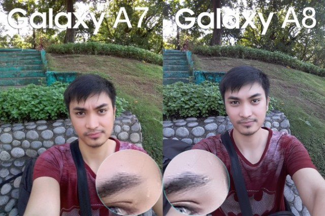 samsung galax a8 vs galay a7 camera review comparison5