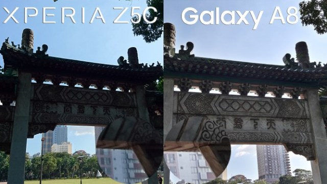 sony xperia z5 compact vs galaxy a8 comparison camera review6