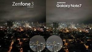 Asus Zenfone 3 Deluxe vs Samsung Galaxy Note 7 Camera Review Comparison Night