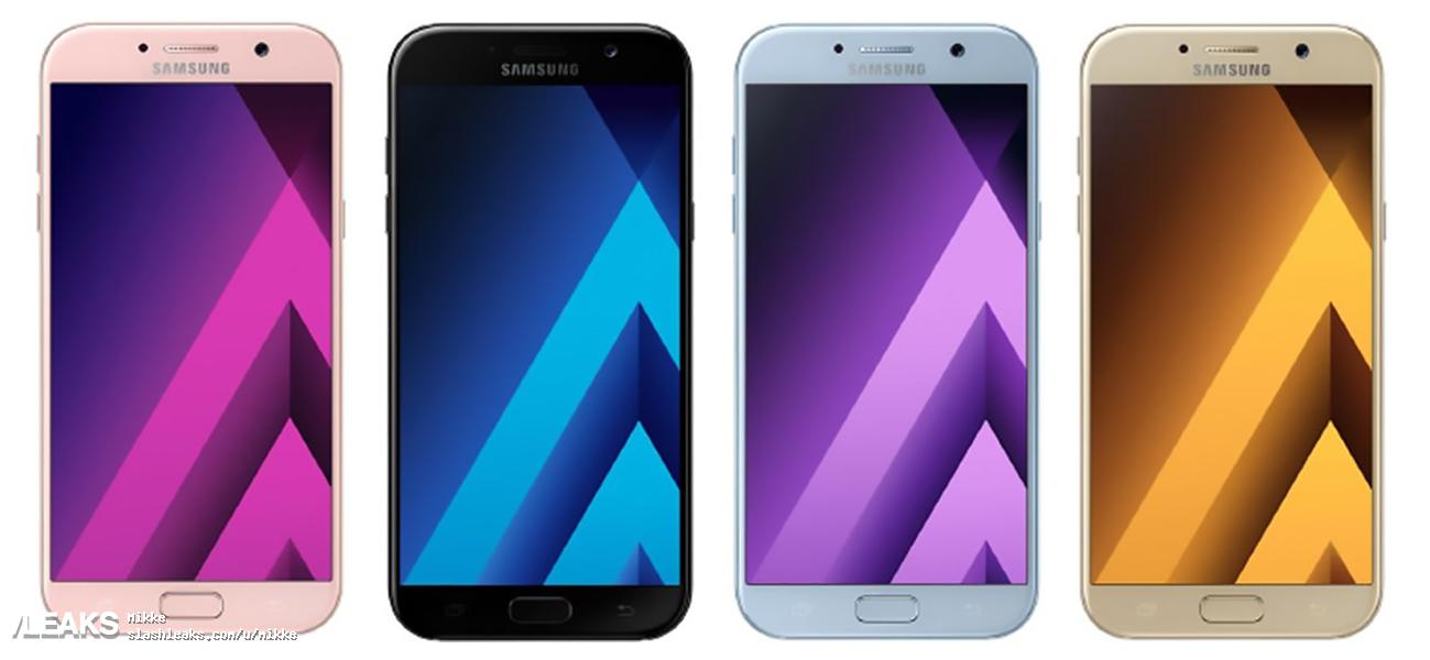 press renders of samsung galaxy a5 2017 in different colors